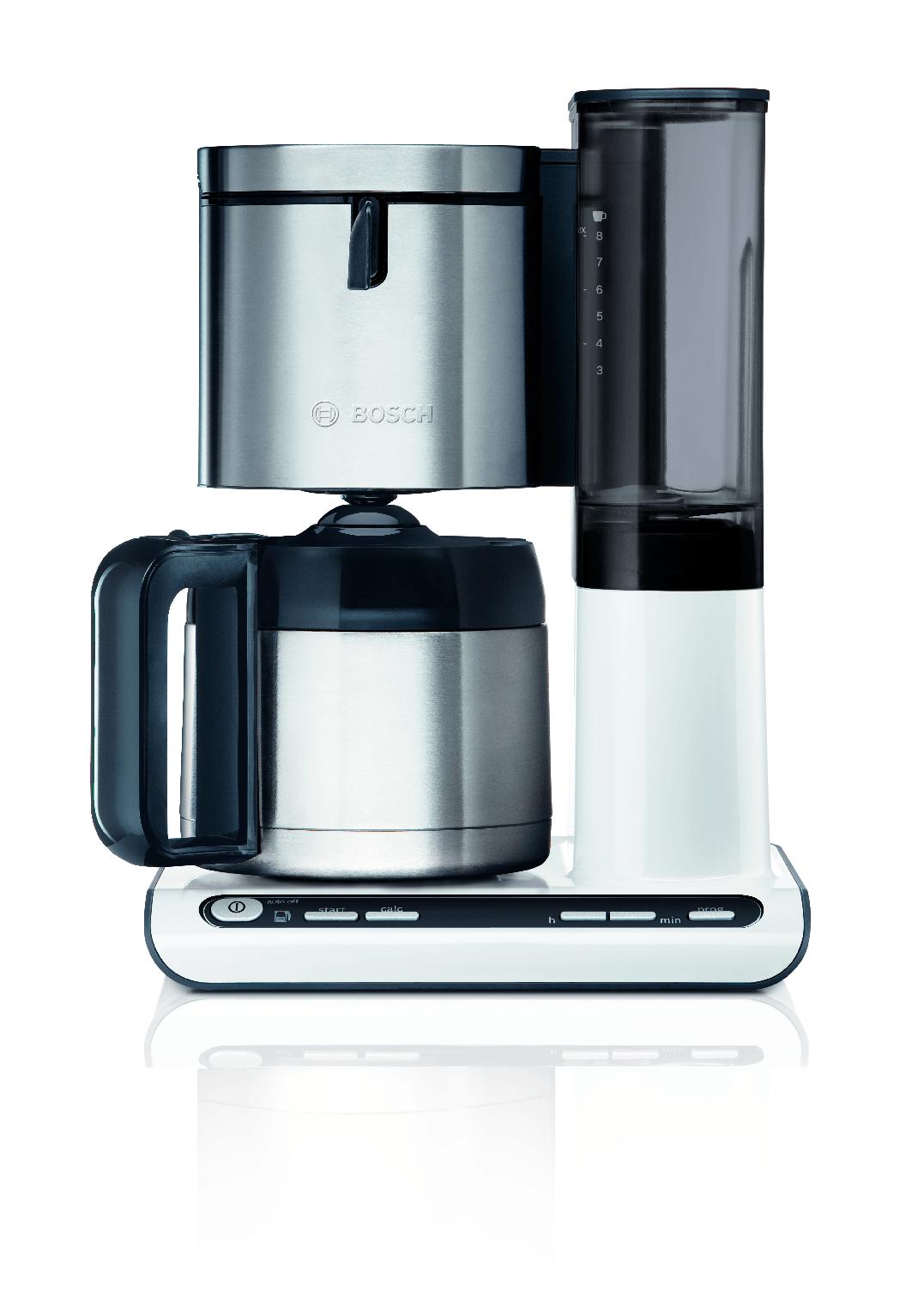 Bosch TKA8651 Styline Koffiezetapparaat, 1L Wit&Antraciet
