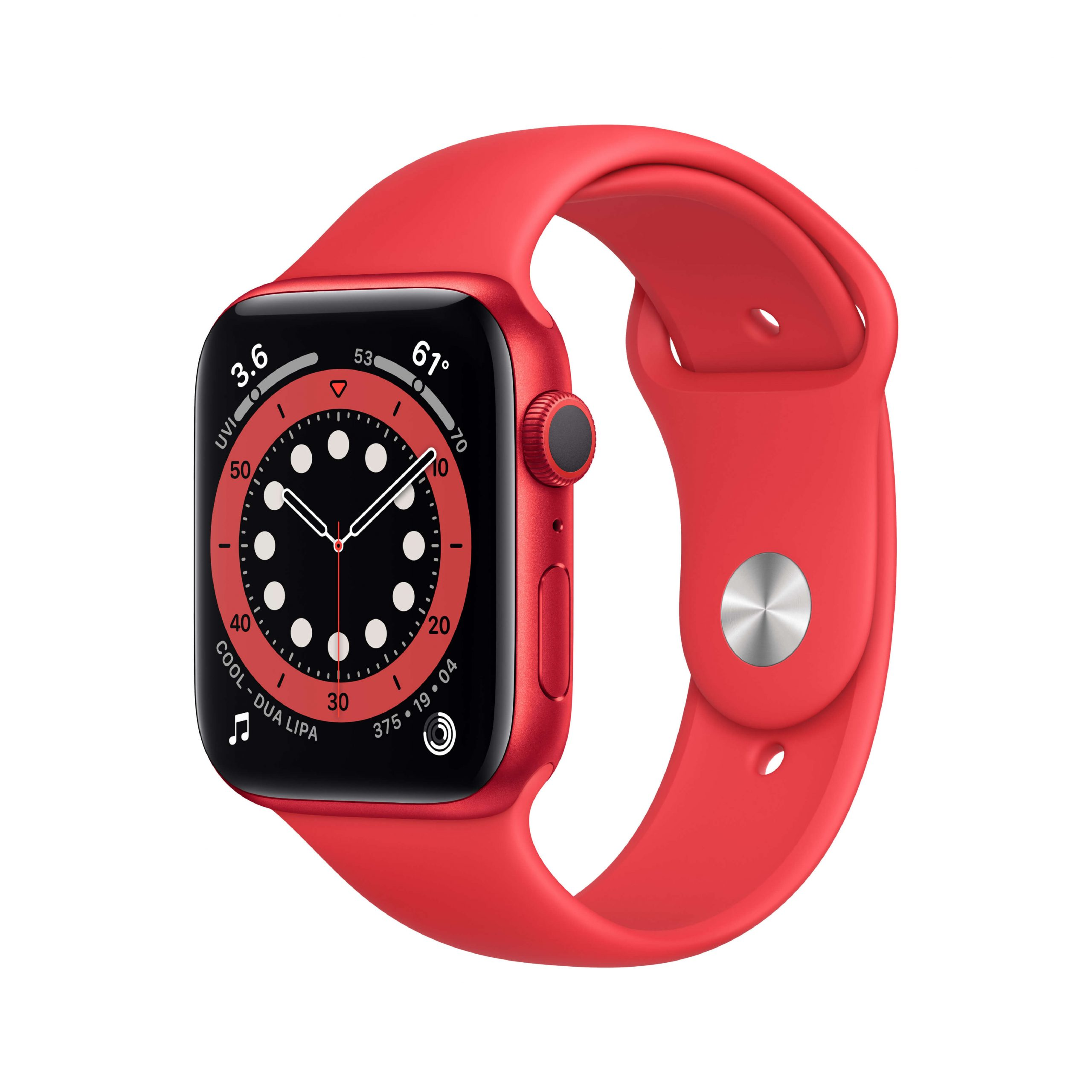 Apple Watch Series 6 44mm (PRODUCT)RED – (PRODUCT)RED sportbandje