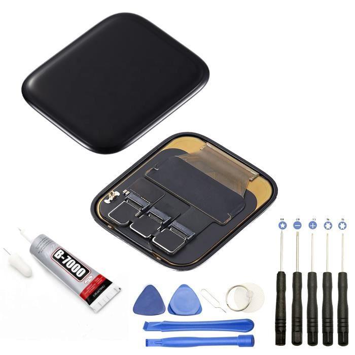 Ecran complet: Vitre tactile + ecran LCD compatible avec Apple Watch Serie SE 2020 40 mm + Kit outils + Colle B7000 Offerte