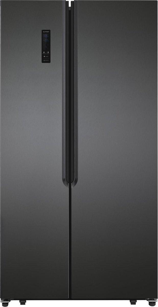 Exquisit SBS 135-4 A+ Inoxlook-donker – Amerikaanse koelkast