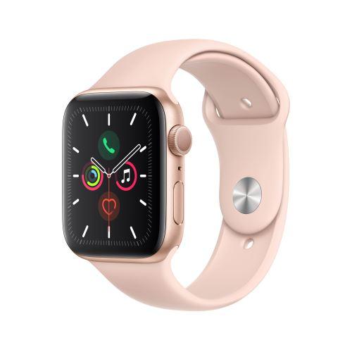 Apple Watch Series 5 GPS 44mm Behuizing in Aluminium Goud met Sport Armband Roos Maat S/M en M/L – Reserveer – Binnenkort Leverbaar