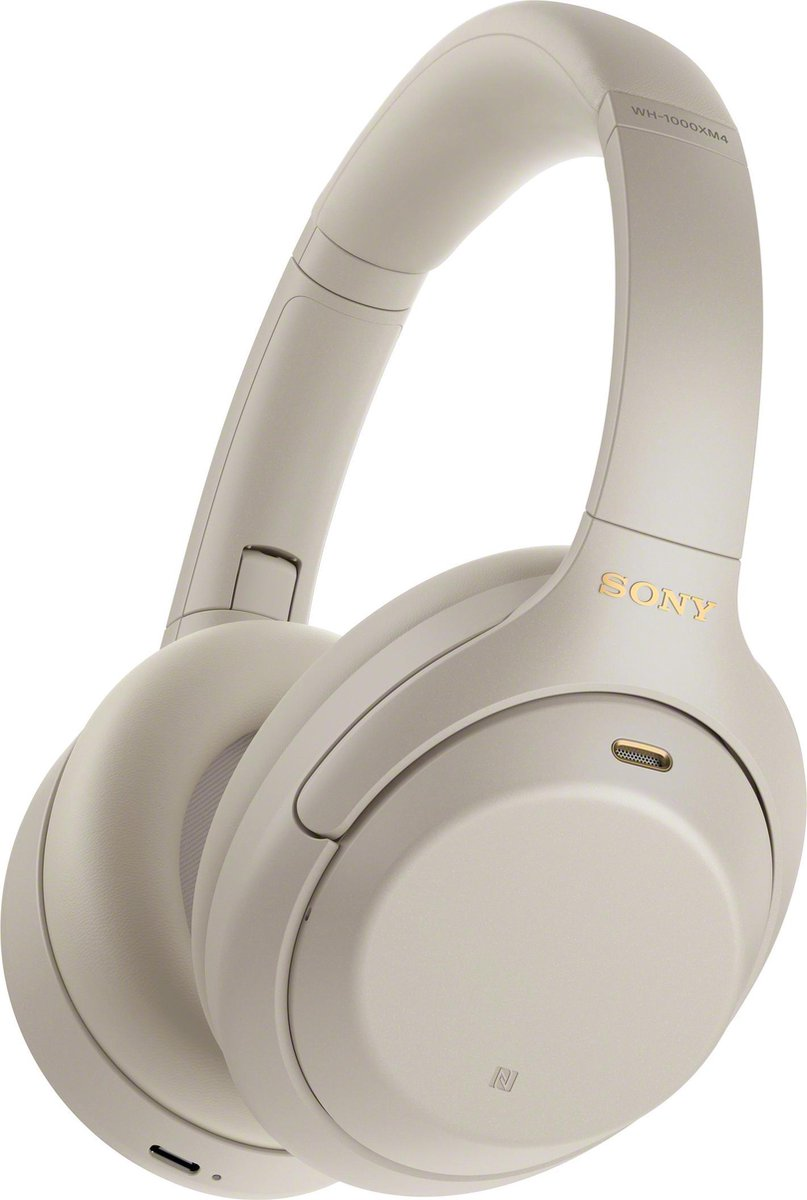 Sony WH-1000XM4 – Draadloze Bluetooth over-ear koptelefoon met Noise Cancelling – Zilver