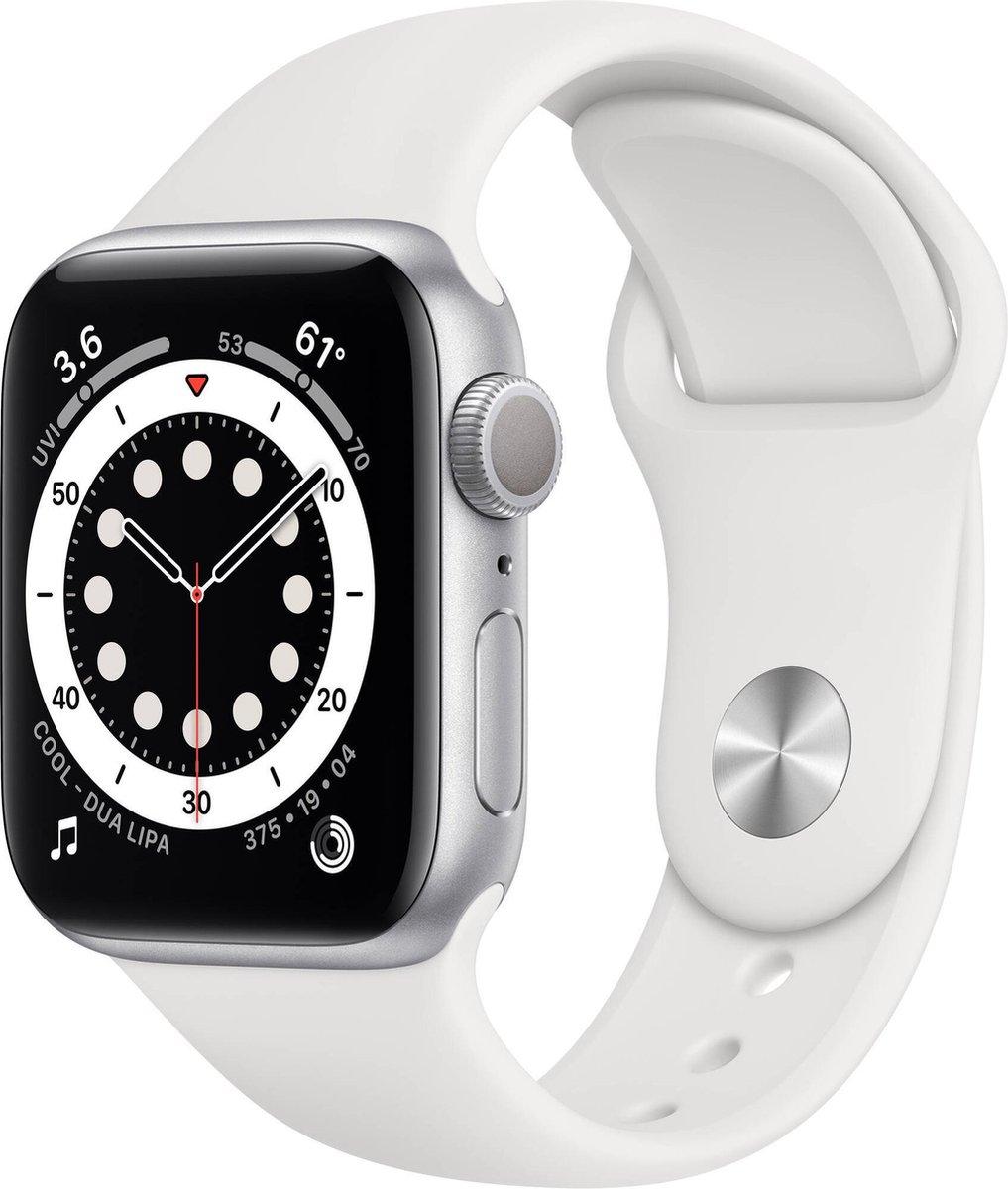 Apple Watch Series 6 – Gerenoveerd door SUPREME MOBILE – B GRADE – 40 mm – GPS – Zilver / Wit band