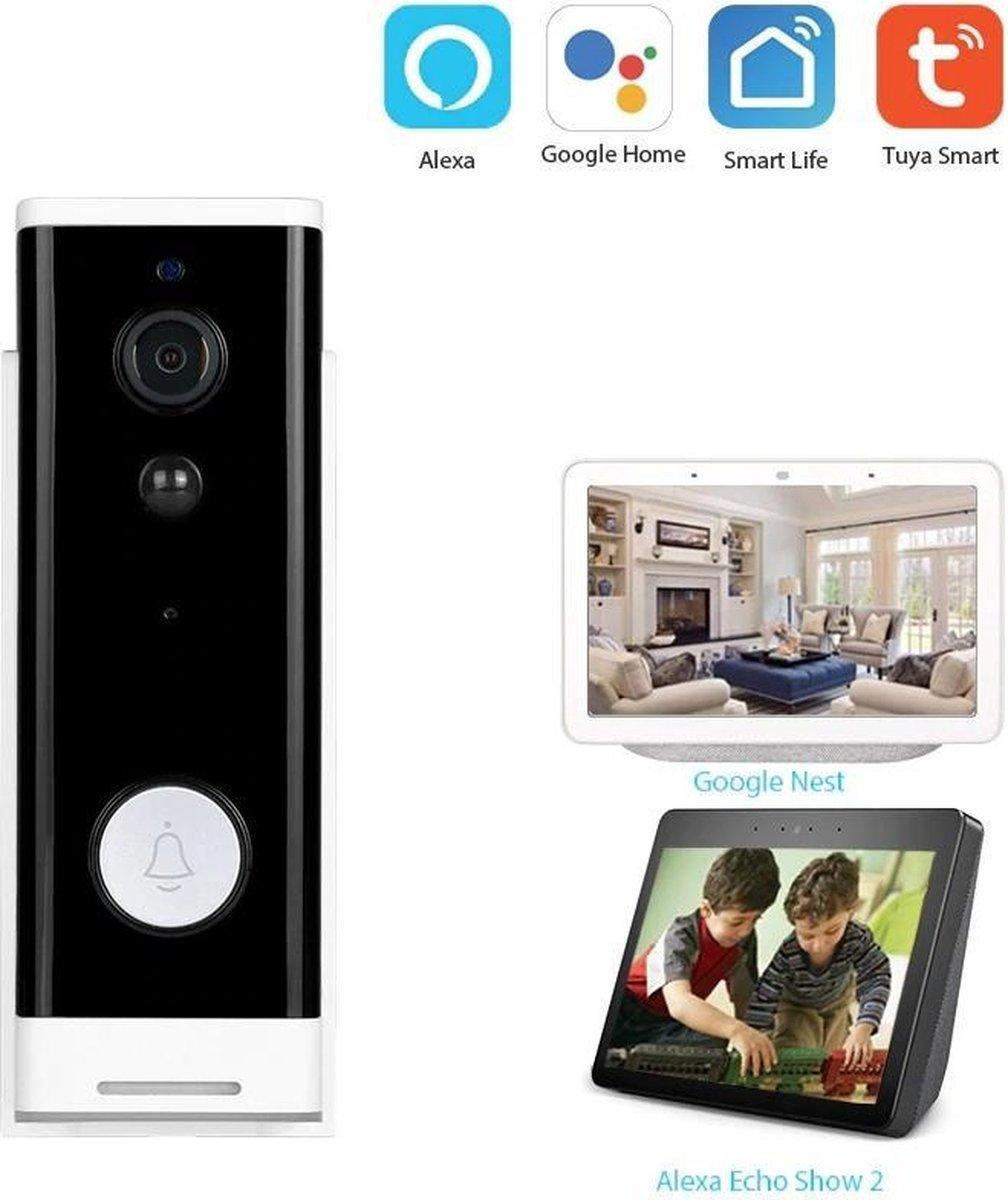 DrPhone DBW-A – Video Deurbel Camera – WiFi / 4G Smartphone – Audio – Full HD – Alexa Show / Google Assistent Nest Compa