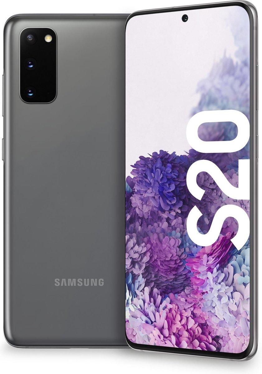 Samsung Galaxy S20 15,8 cm (6.2″) 12 GB 128 GB Dual SIM 5G USB Type-C Grijs Android 10.0 4000 mAh