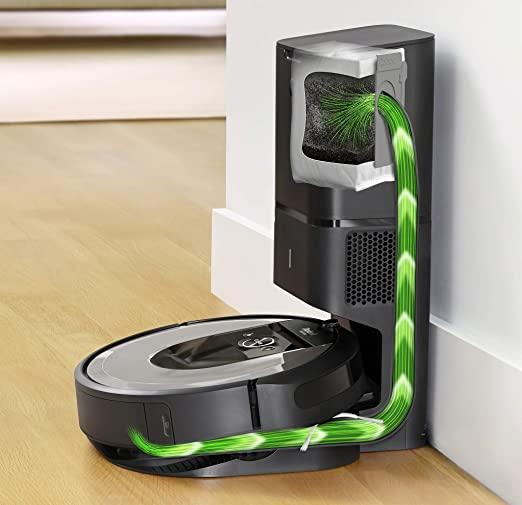 Irobot Roomba I7+ (I7556) Robotstofzuiger, Automatische Afzuiging, Licht Zilver