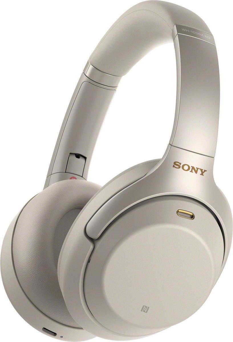 Sony WH-1000XM3 – Draadloze over-ear koptelefoon met Noise Cancelling – Zilvergrijs