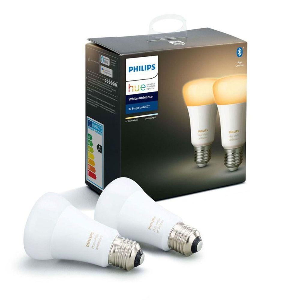 Philips Hue White Ambiance E27 9.5W x2