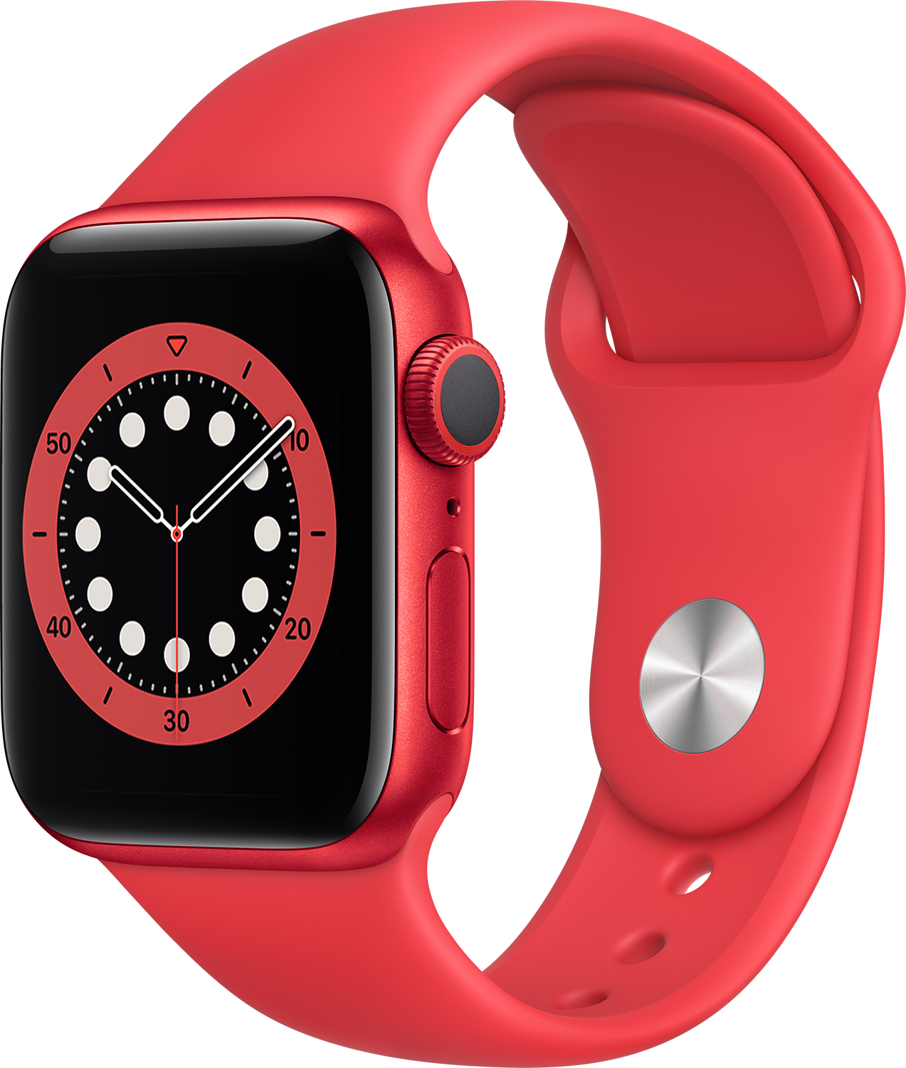 APPLE Watch Series 6 40mm (PRODUCT)RED rood aluminium / rode sportband
