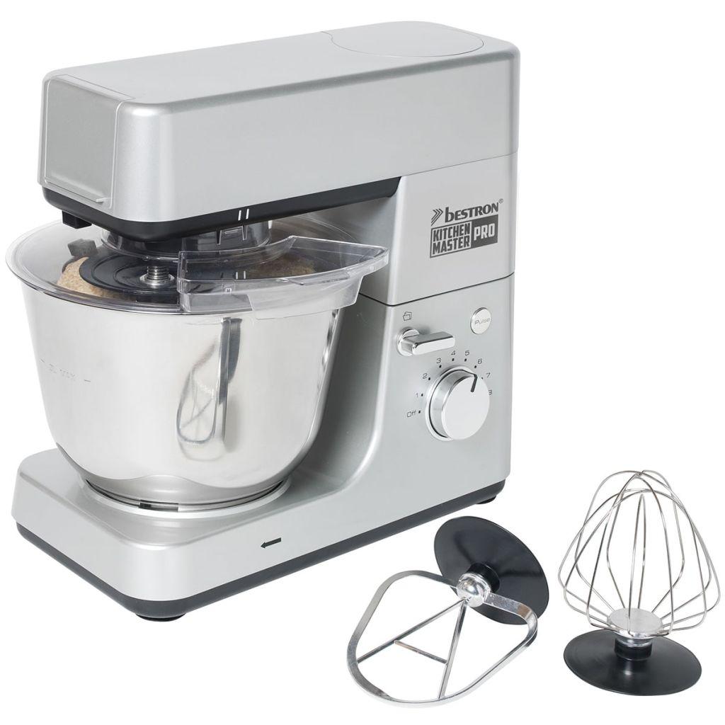 Bestron 4-in-1 keukenmachine 1600 W 5 L grijs AKM1600S