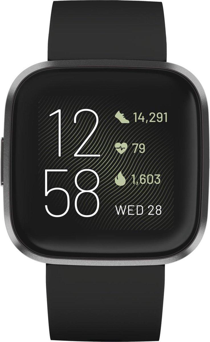 Fitbit Versa 2 – smartwatch – zwart