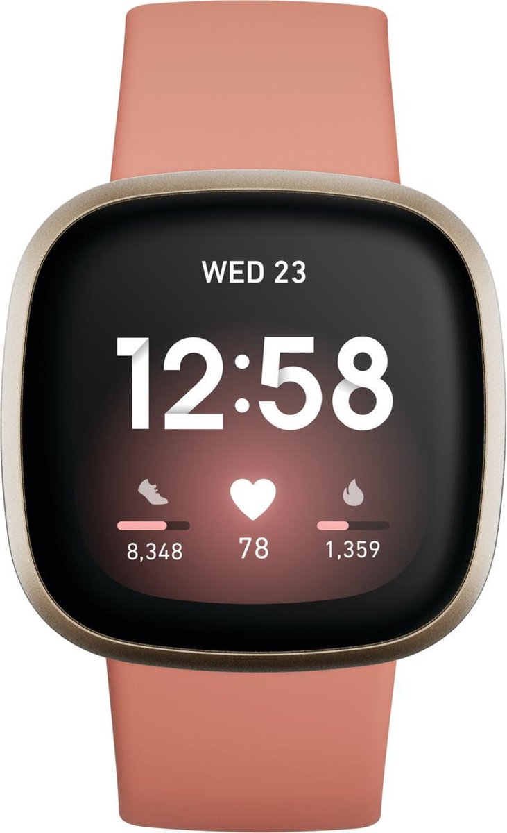 Fitbit Versa 3 – Smartwatch dames – Roze