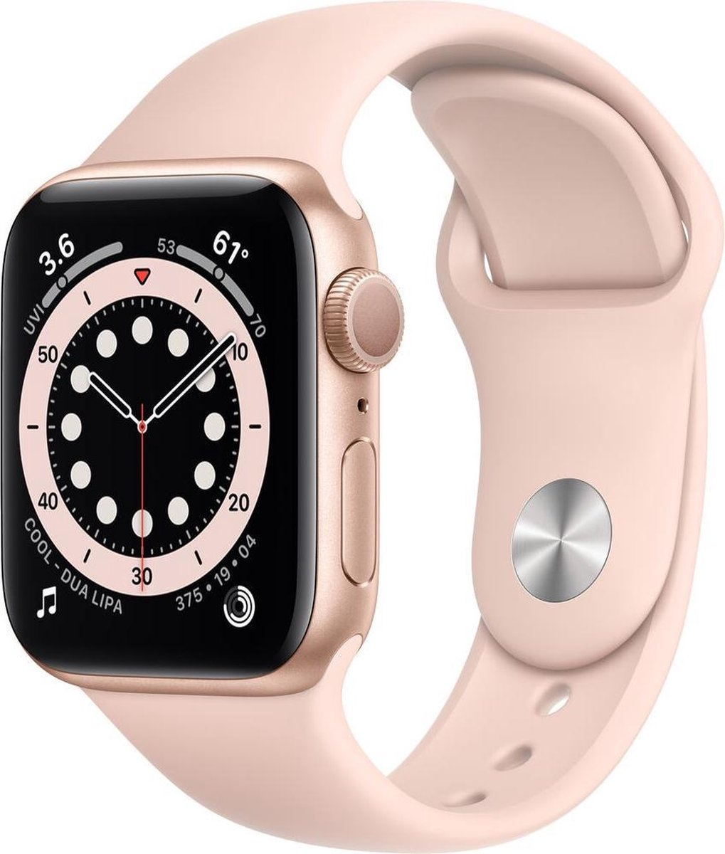 Apple Watch Series 6 – Gerenoveerd door SUPREME MOBILE – A GRADE – 40 mm – GPS – Goud / Roze band