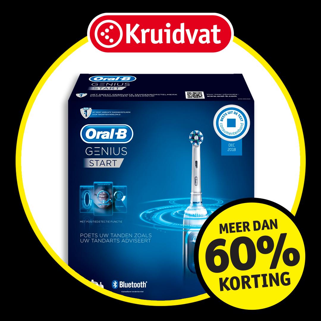 Oral-B elektrische tandenborstel Genius Start: meer dan 60% korting