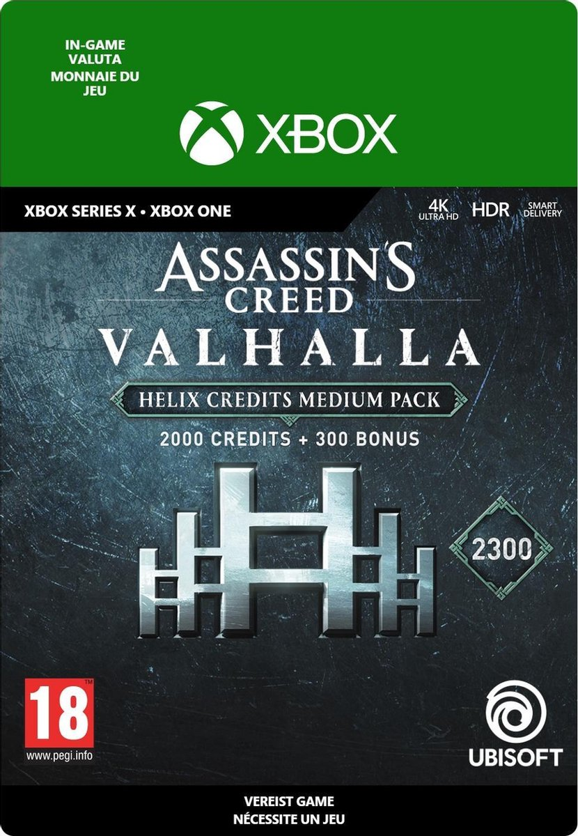 2.300 Assassin's Creed Valhalla Helix Credits Pack – In-game tegoed – Xbox One/Xbox Series X/S