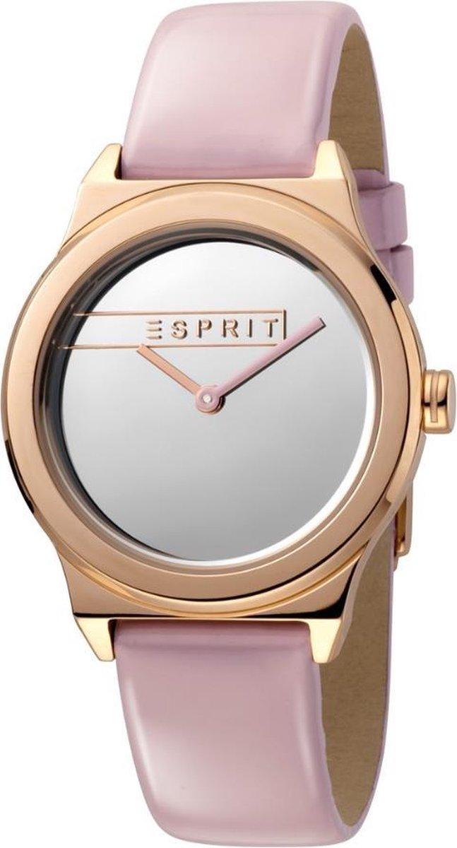 Esprit ES1L019L0045 Magnolia Horloge – Leer – Roze – Ø 34 mm
