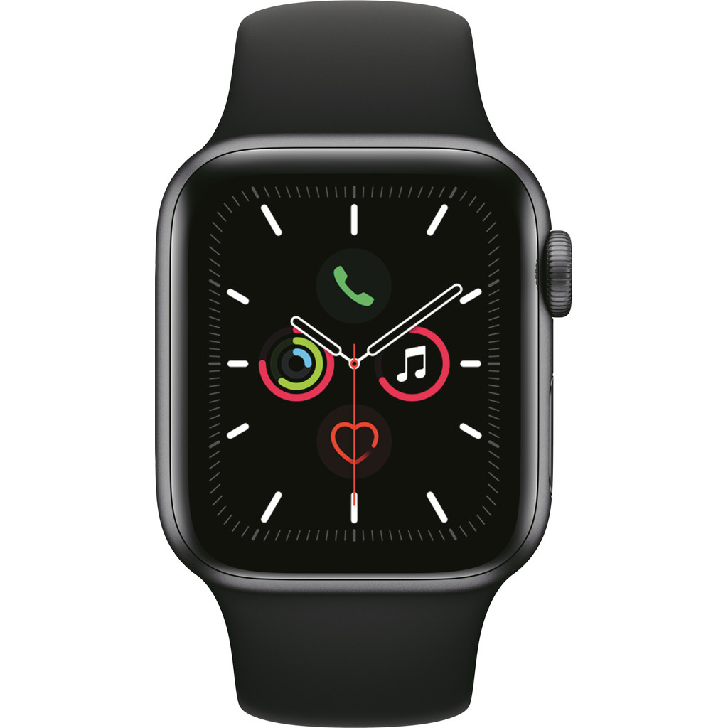Apple Watch Series 5 40mm Space Gray Aluminium Zwarte Sportband