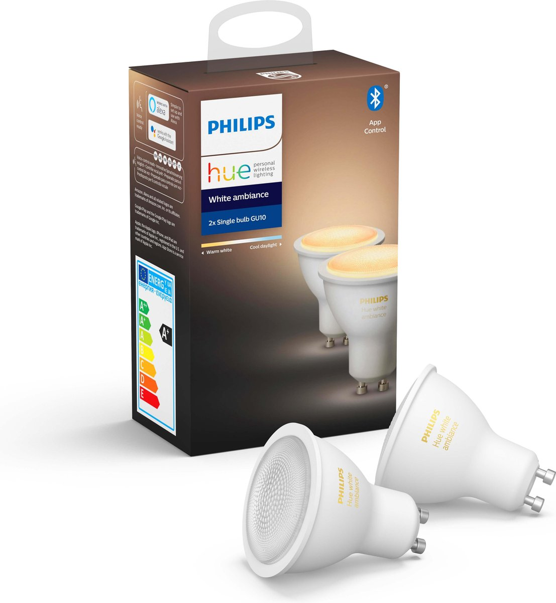 Philips Hue GU10 Duo Pack – White Ambiance – Bluetooth