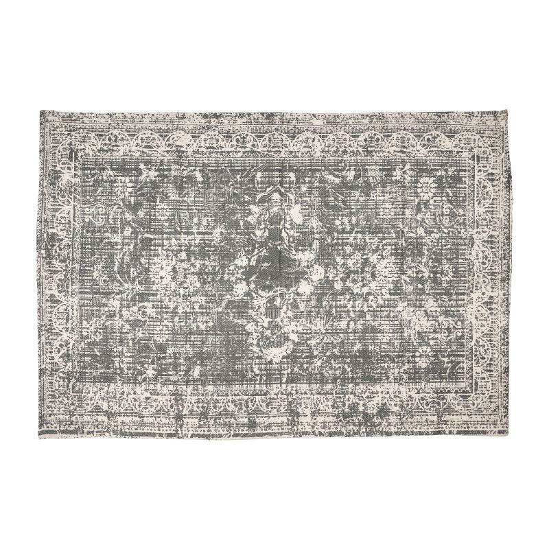 Vloerkleed washed – grijs – 180×120 cm