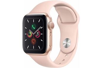 Montre connectée Apple Apple watch serie 5 gps, boîtier 44mm aluminium or et bracelet sportif sable