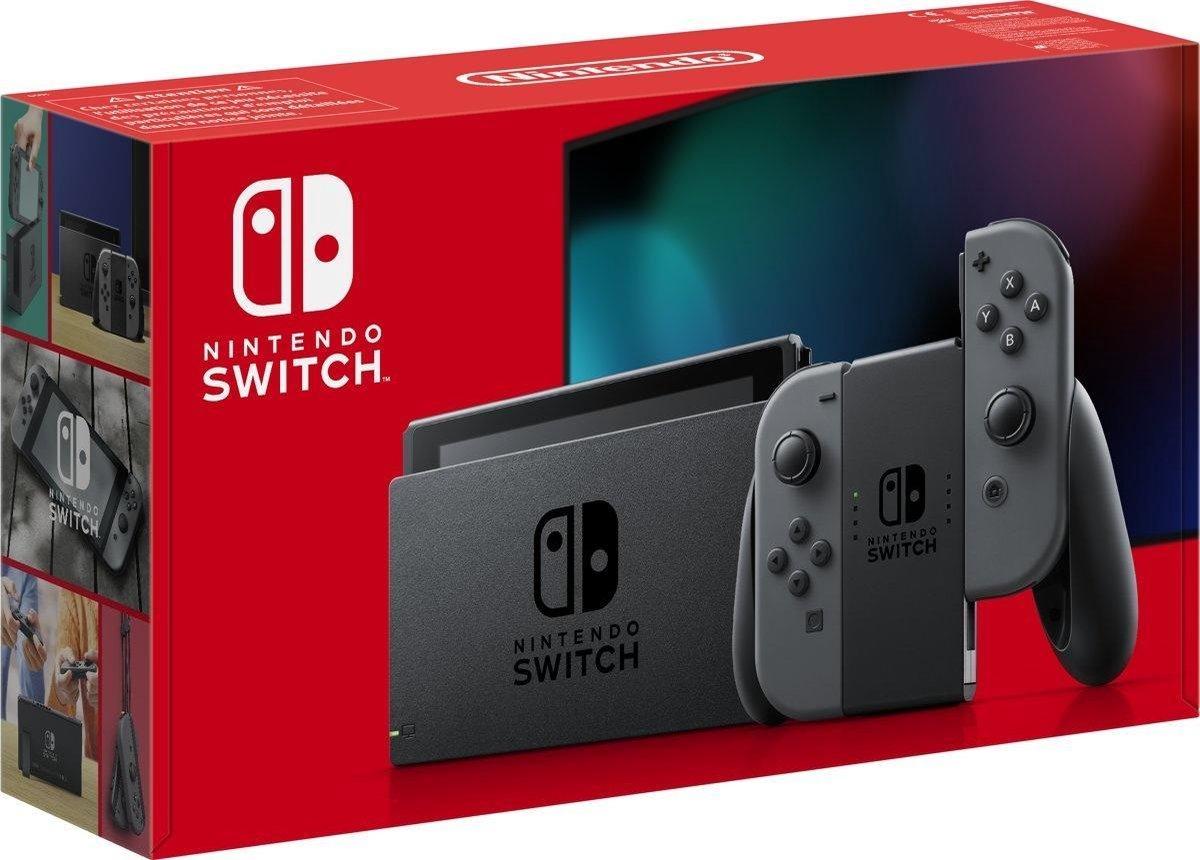 Nintendo Switch Console – Grijs – Nieuw model