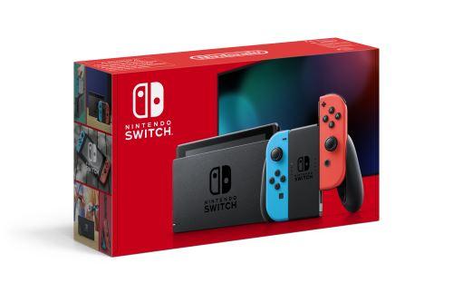Console Nintendo Switch avec paire de Joy-Con Rouge et Bleu Neon V2