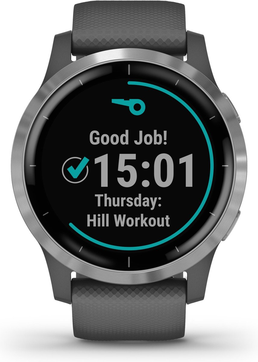 Garmin Vivoactive 4 – Smartwatch – 45 mm – donkergrijs/zilver