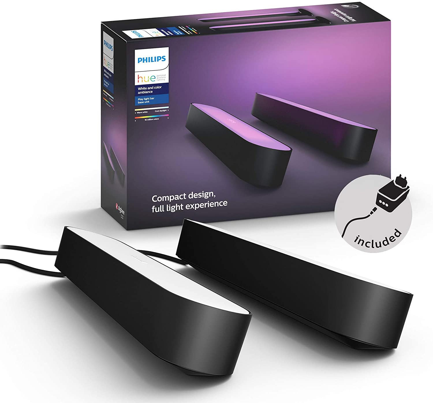 PHILIPS HUE Play zwart - duo pack