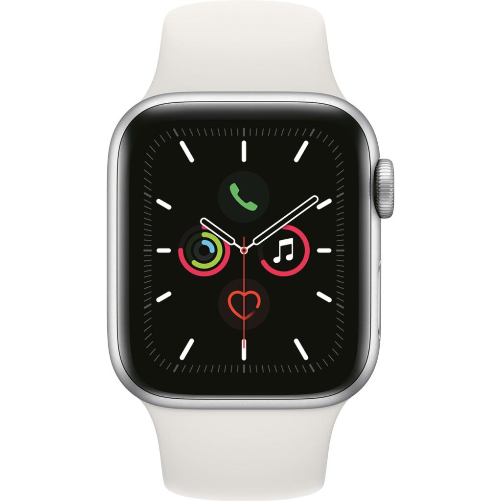 Apple Watch Series 5 40mm Zilver Aluminium Witte Sportband