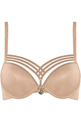dame de paris push up bh | wired padded sand and golden lurex – 75A