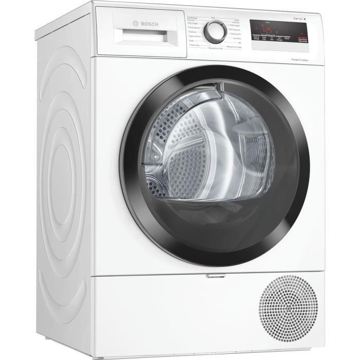 Sèche-linge pompe à chaleur BOSCH WTR85V02FF – 8 kg – Classe A++ – Blanc