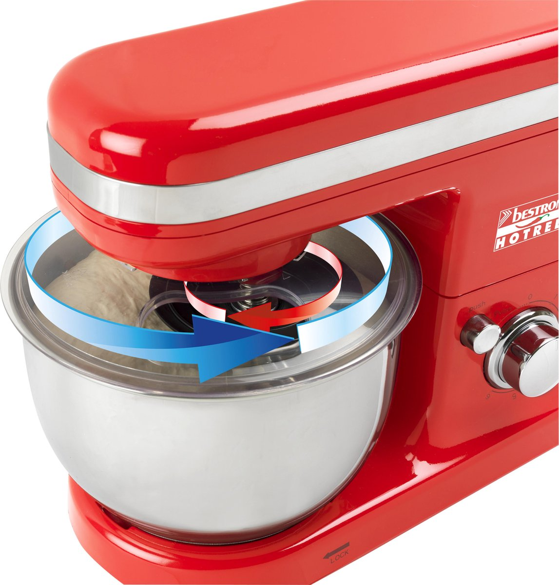 Bestron AKM500HR – Keukenmachine – HotRed