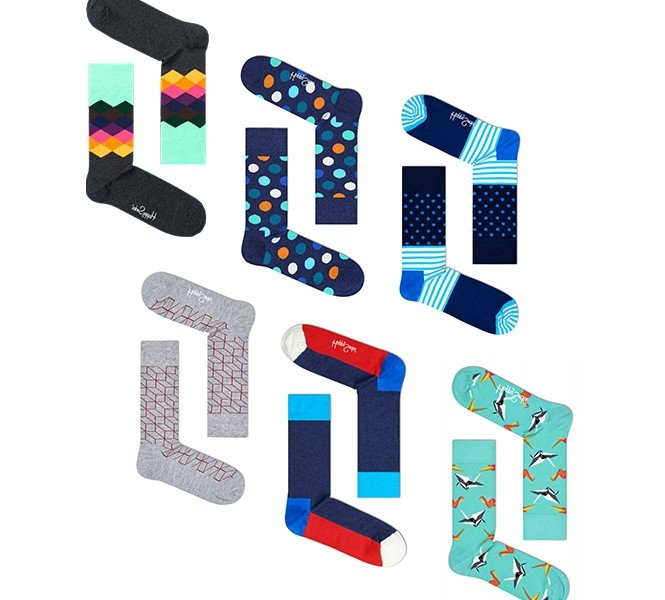 6 paar Happy Socks voor Hem en Haar | Dé sokken van dit moment