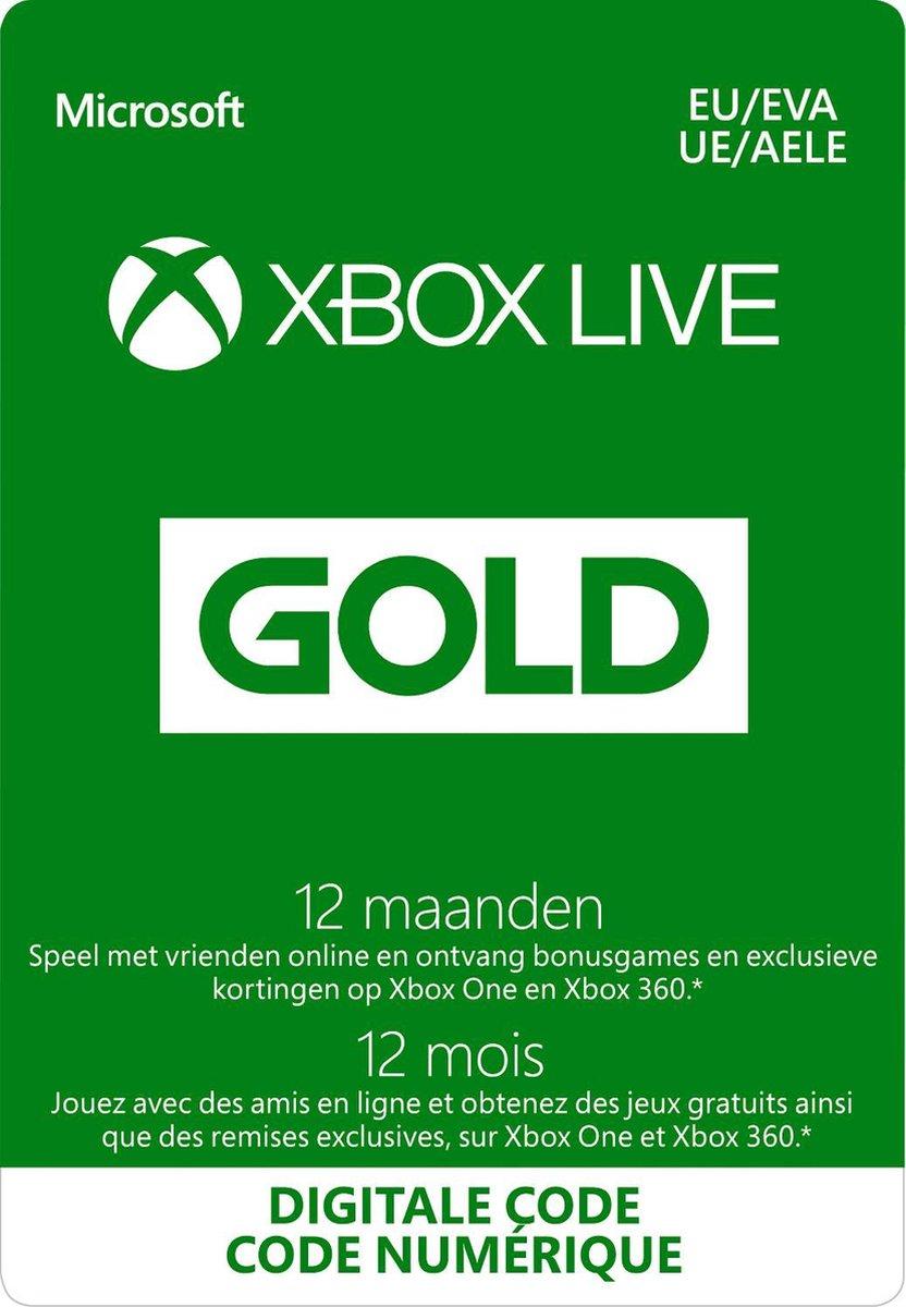 Microsoft Xbox Live Gold – 12 Maanden Abonnement – Xbox 360, Xbox One, Xbox Series X & S