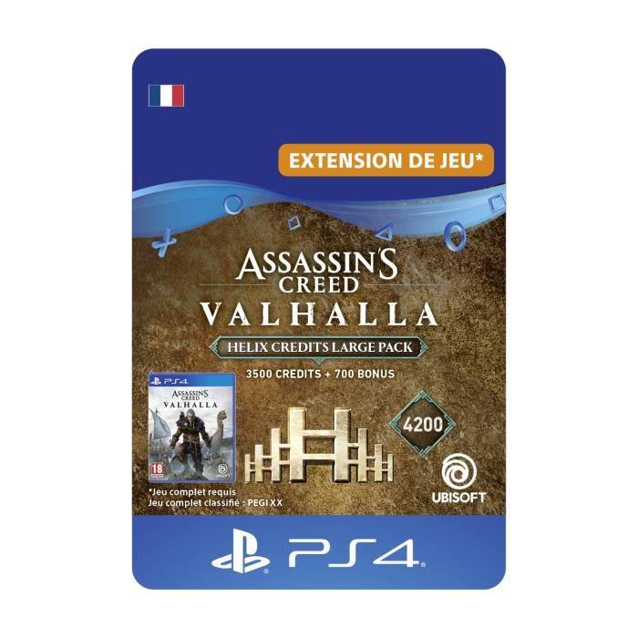DLC Pack Helix Large : 4200 Crédits Helix pour Assassin's Creed Valhalla – Code de Téléchargement PS4 & PS5