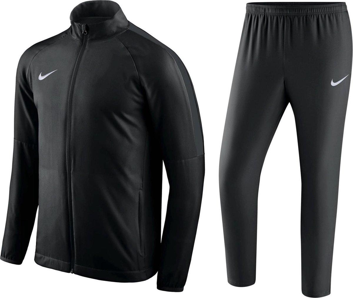 Nike Dry Academy18 Trk Suit W Trainingspak Heren – Zwart/Zwart/Anthracite/Wit