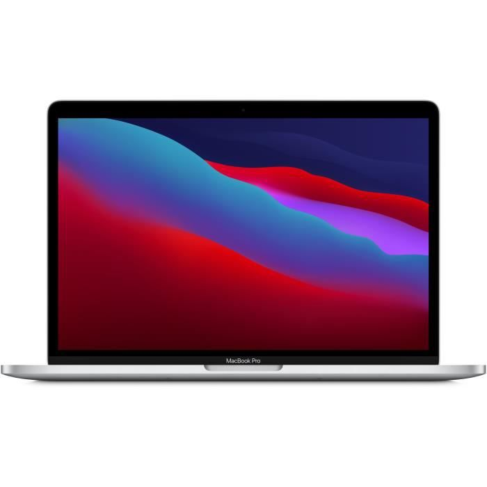Apple – 13,3- MacBook Pro Touch Bar (2020) – Puce Apple M1 – RAM 8Go – Stockage 256Go – Argent