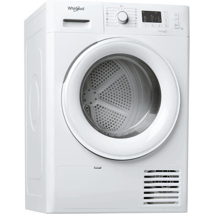 Sèche-linge à condensation WHIRLPOOL FTCM107BEU – 7 kg – Classe B – Blanc