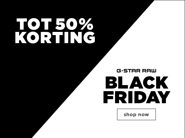 Tot 50% korting G-Star Raw Black Friday shop now