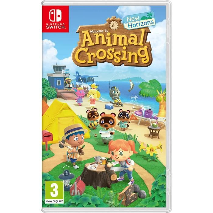 Jeu Nintendo Switch Animal Crossing : New Horizons + 1 Sticker Mario Offert
