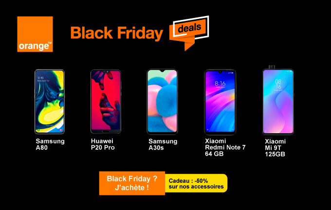 Orange Black Friday deals 5 smartphones sont en vente