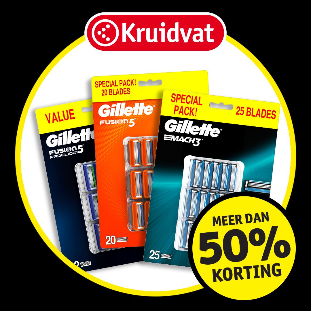 Gillette Fusion voordeelpak 20 stuks: meer dan 50% korting
