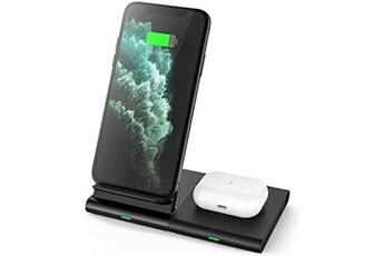 Chargeur de batterie Hoidokly Hoidokly 2 en 1 chargeur induction 10w chargeur sans fil rapide pour samsung galaxy watch/buds live, s21 ultra/s20/s10e/