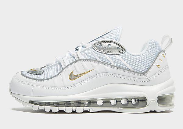 Nike Air Max 98 Dames – White/Gold/Silver – Dames