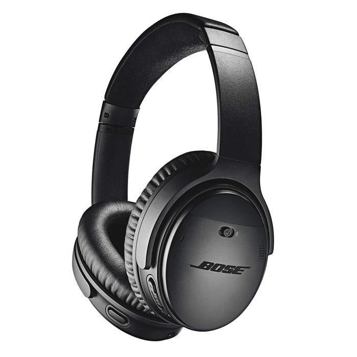 Bose Casque sans fil à réduction de bruit QuietComfort 35 II avec Amazon Alexa intégré – Noir