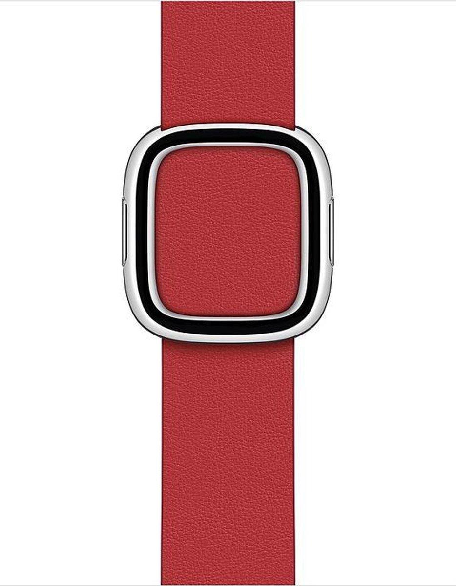 Apple Watch Modern Buckle – 40mm – Scarlet – Medium – voor Apple Watch SE/5/6