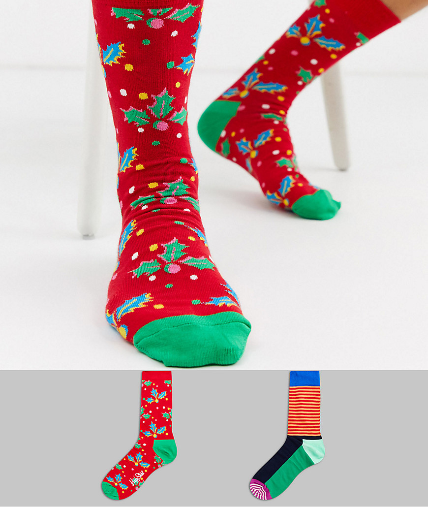 Happy Socks – Holiday Cracker – Set van 2 paar sokken in geschenkdoos-Multi