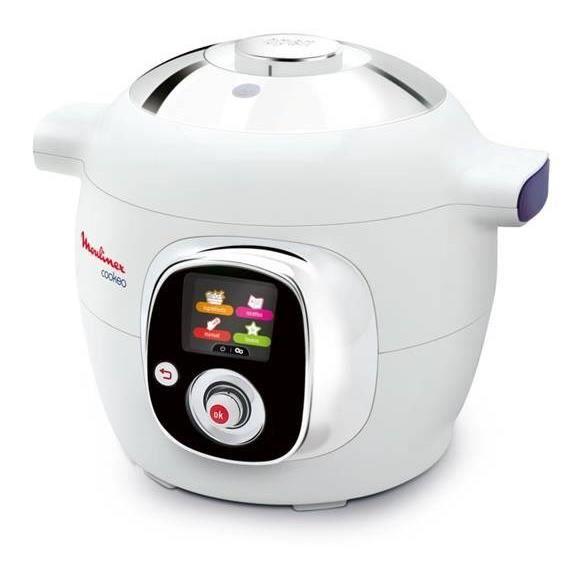 MOULINEX CE704110 Multicuiseur intelligent Cookeo avec 100 recettes préprogrammées – 6 L – Blanc