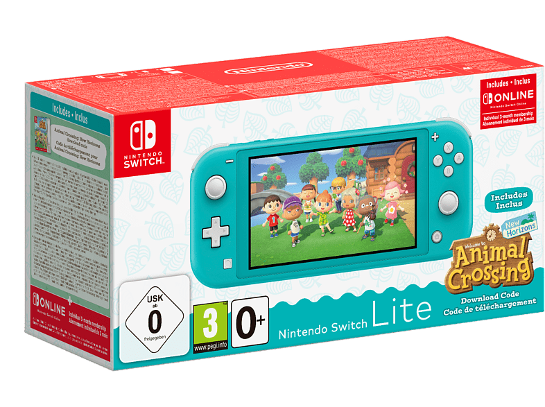 NINTENDO Switch Lite + Animal Crossing - Turquoise