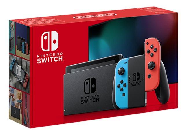Nintendo Switch Console met extra autonomie rood/blauw